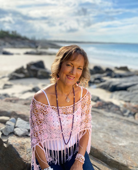 Julia Williamson at beach Sing to Thrive